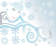 Winter face Stock Image