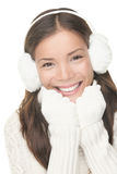 Winter face skin care Stock Photography