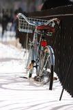 Winter-Fahrrad Stockbilder