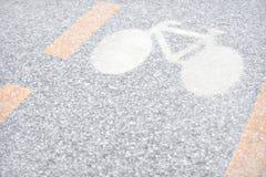 Winter-Fahrradweg Stockfoto