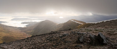 Winter Fairfield Horseshoe Peak Royalty Free Stock Images