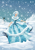 Winter Fairy. This illustration represent an winter allegory Royalty Free Stock Photography