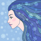 Winter fairy girl Royalty Free Stock Photo