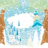 Winter fairy illustration. Winter beautiful fairy , Vector Illustration Royalty Free Stock Photography