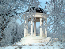 Winter fairy tale. Pavilion in Kostroma Royalty Free Stock Images