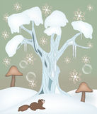 Winter fairy tale illustration. Winter love series - winter fairy tale illustration Royalty Free Stock Photography