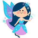 Winter fairy. Vector Illustration of a beautiful winter fairy Stock Images