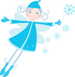Winter fairy. Vector image of a cheerful christmas elf Stock Images