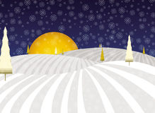 Winter fairytale Christmas landscape stock image