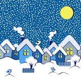 Winter fairytale seamless card Stock Photos
