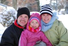 Winter-Familie Lizenzfreies Stockfoto