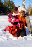 Winter family Royalty Free Stock Image