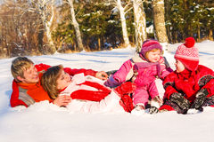 Winter family Royalty Free Stock Photography