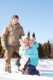 Winter family Stock Photo