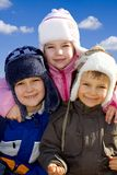 Winter Family Royalty Free Stock Images