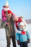 Winter family Stock Images