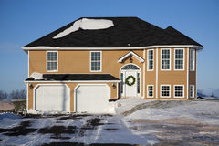 Winter Family Home Stock Images