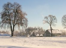 Winter farm Royalty Free Stock Photography