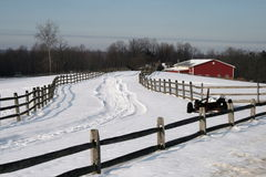 Winter On The Farm Stock Photography