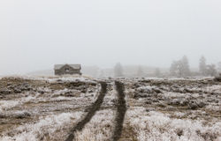 Winter Farm. Abandoned farmhouse on plains of eastern Washington Royalty Free Stock Photos