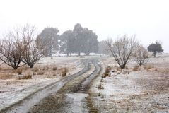 Winter Farm Scene Royalty Free Stock Photography