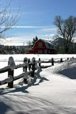 Winter farmhouse. Wintery farm home near Aspen Colorado Stock Images