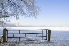 Winter farmland Royalty Free Stock Images