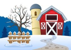 Winter farmland theme 2 Royalty Free Stock Photo