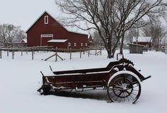 Winter Farmyard Royalty Free Stock Photography