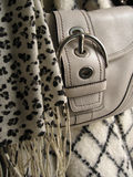 Winter fashion. Items, scarf, purse and coat Stock Images