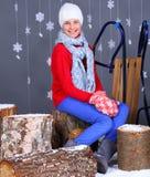 Winter Fashion. Beautiful happy girl. Stock Image