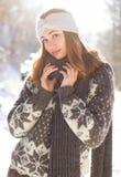 Winter fashion beauty. Stock Image