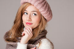 Winter fashion beauty. Royalty Free Stock Image