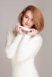 Winter fashion beauty. Stock Photo
