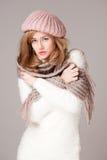 Winter fashion beauty. Stock Photos