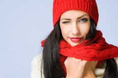 Winter fashion cutie. Royalty Free Stock Images