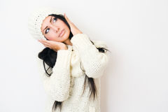 Winter fashion cutie. Stock Photography