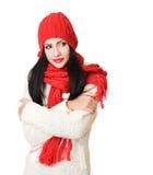 Winter fashion cutie. Portrait of a gorgeous happy young winter fashion cutie stock image