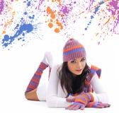 Winter fashion girl Stock Photos