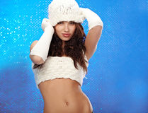 Winter fashion Girl Stock Image