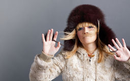Winter fashion girl Royalty Free Stock Image