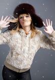 Winter fashion girl Royalty Free Stock Image