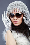 Winter fashion girl Stock Images