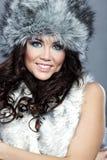 Winter fashion girl Stock Photography