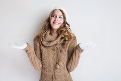 Winter fashion girl. Stock Photos