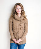 Winter fashion girl. Royalty Free Stock Image