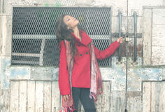 Winter fashion girl Royalty Free Stock Photo