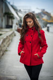 Winter fashion girl Royalty Free Stock Images