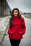Winter fashion girl Royalty Free Stock Photography