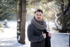 Winter fashion man Stock Images